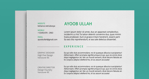 best free professional cv resume template 2014a