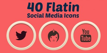 Flatin Social Media Icons (Ai & Pngs)