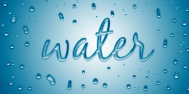 Free Water Bubble Text Effect PSD Template