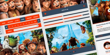 Free Croods UI Kit For Web & Graphic Designers 2014