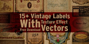 15+ Vintage Labels with Texture Effect Vectors Free Download