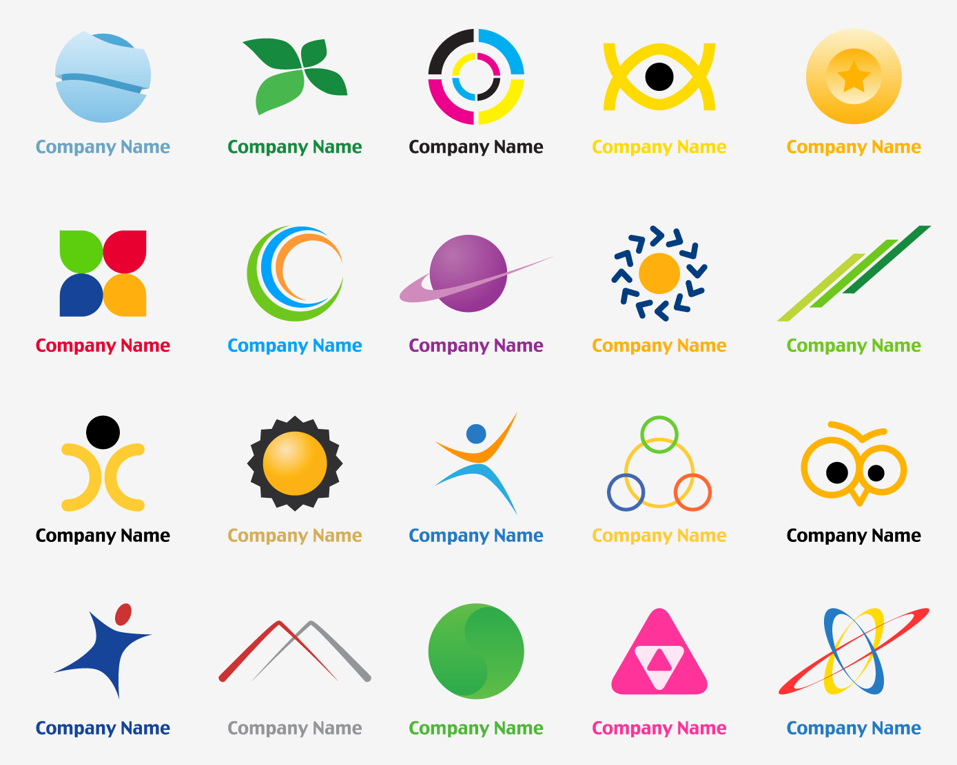 20-Vector-logo-design-templates.jpg (1389×1111) | Graphic ...