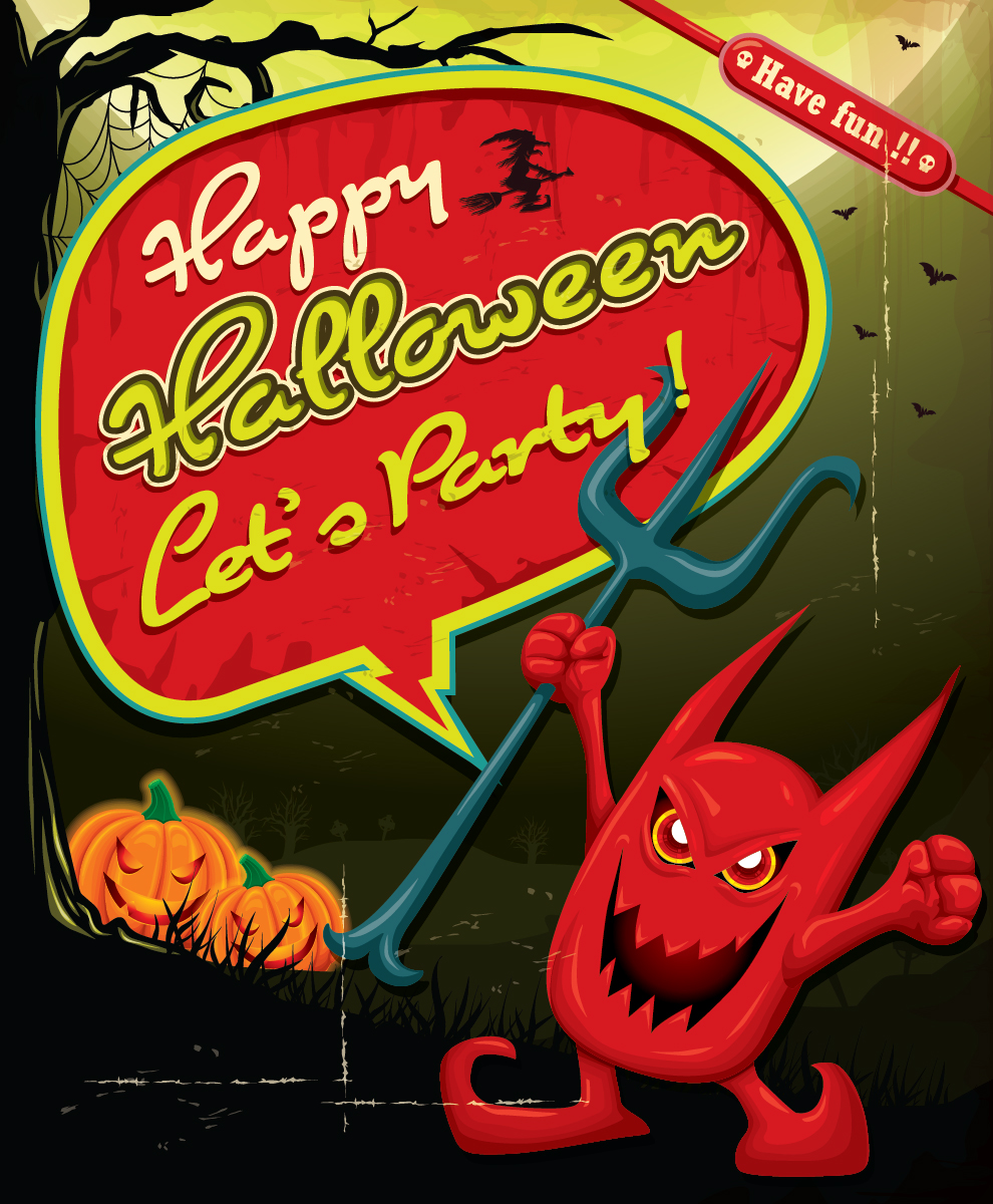 5 Free Halloween Party Vector Designs-01