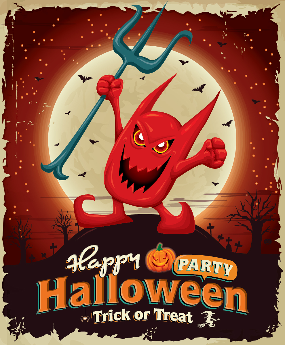 5 Free Halloween Party Vector Designs-02