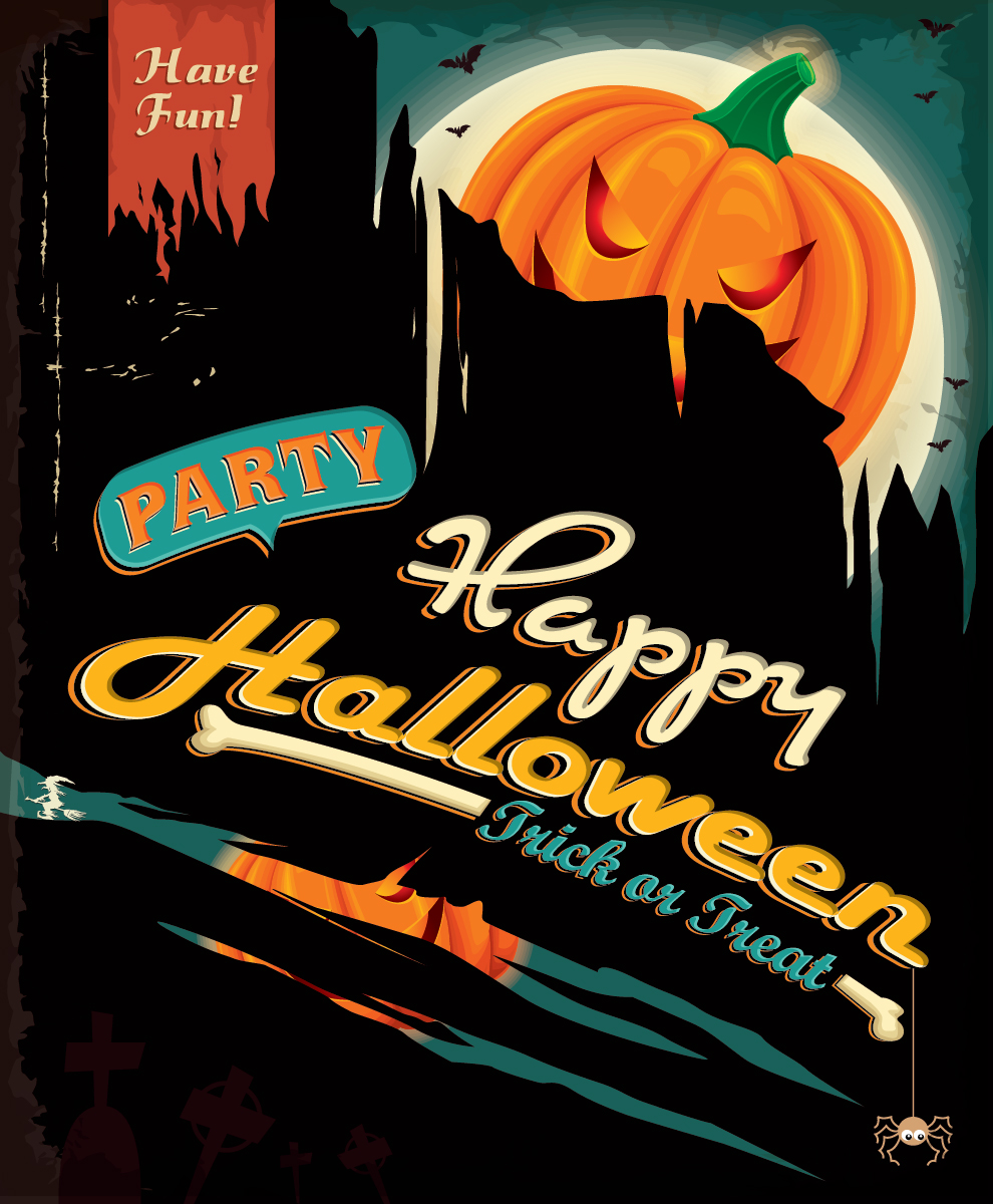 5 Free Halloween Party Vector Designs-03
