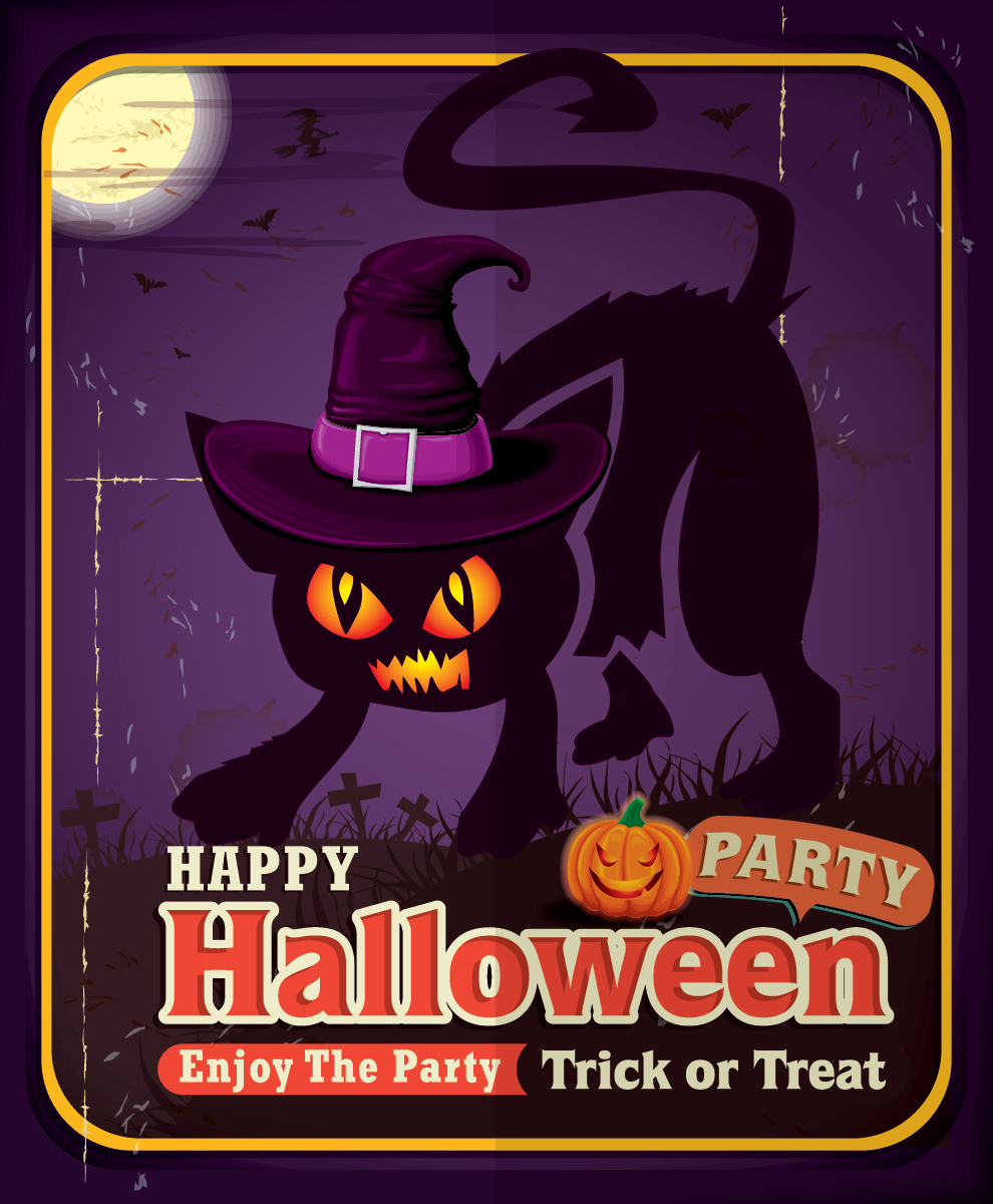 5 Free Halloween Party Vector Designs-04