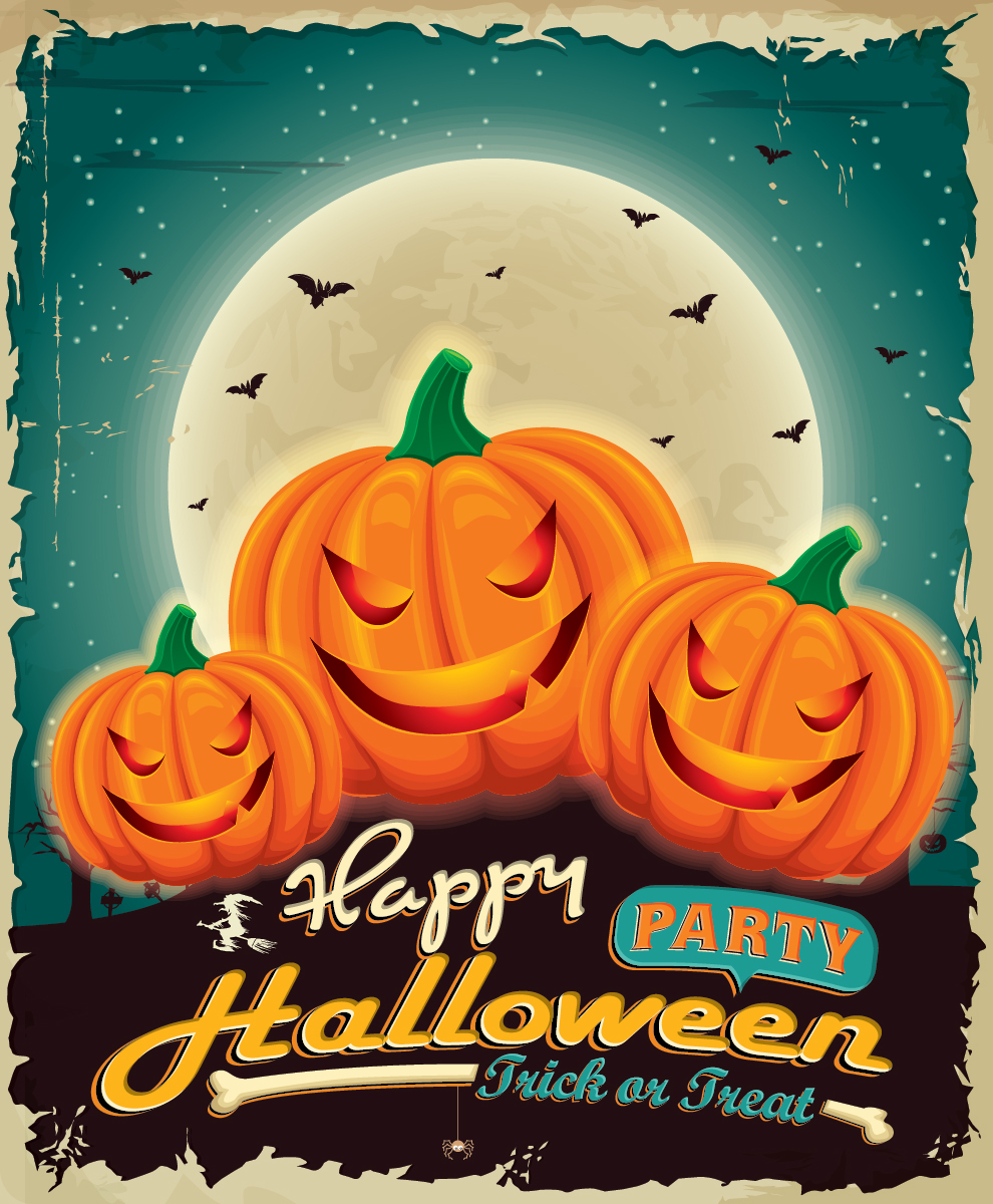 5 Free Halloween Party Vector Designs-05
