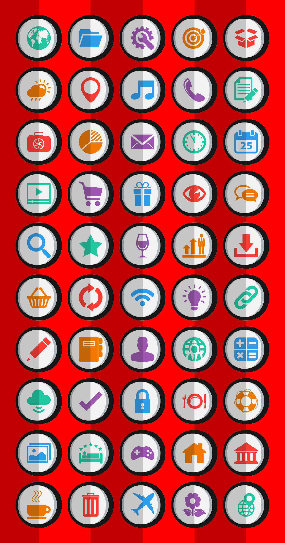Dynamic-Flat-Android-Icons