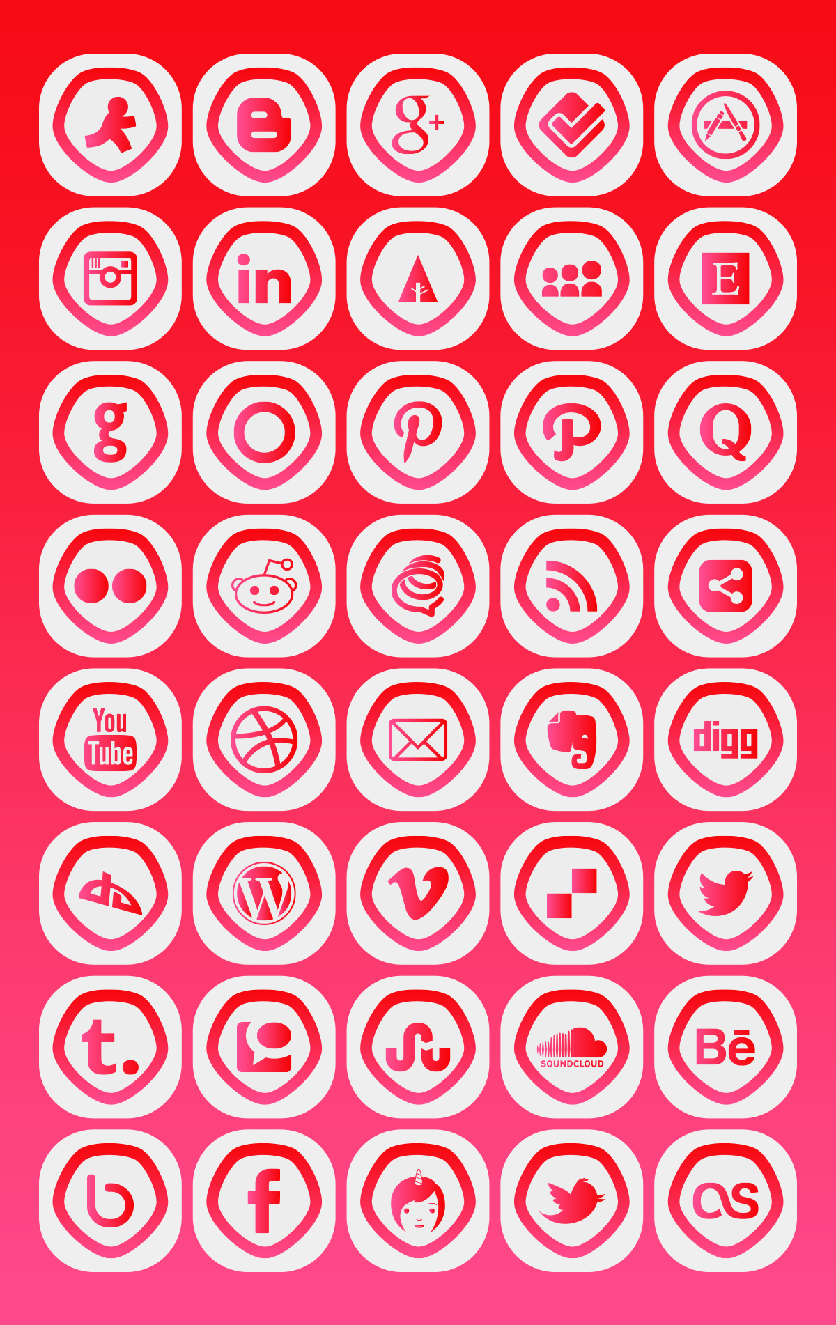 bubbly-social-media-icons