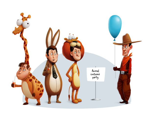 cartoon characters, character design (12)
