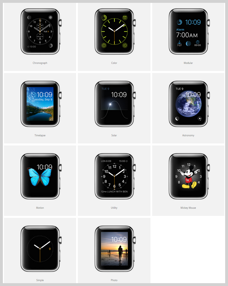 many-faces-&-expressions-of-apple-watch