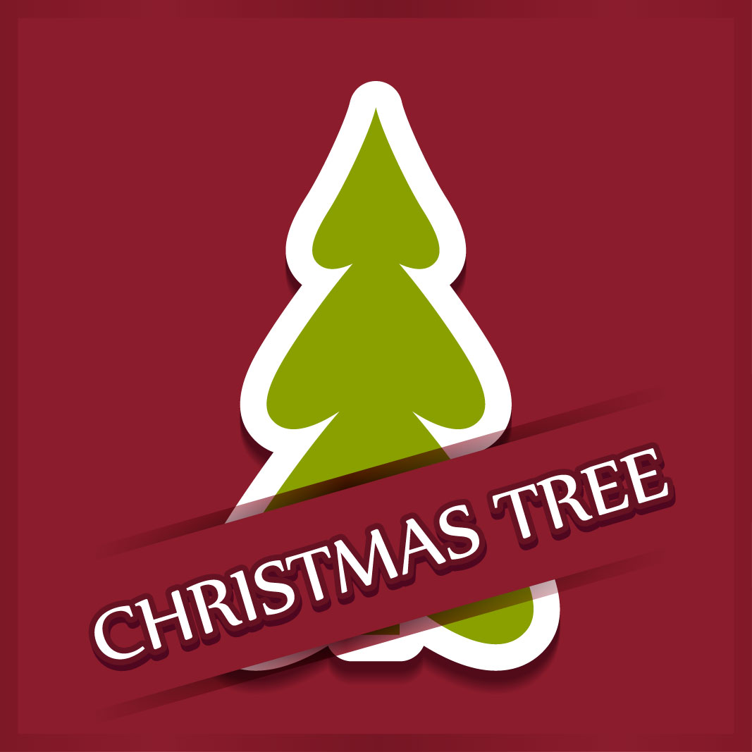 40 free christmas tree Vectors 2014-27