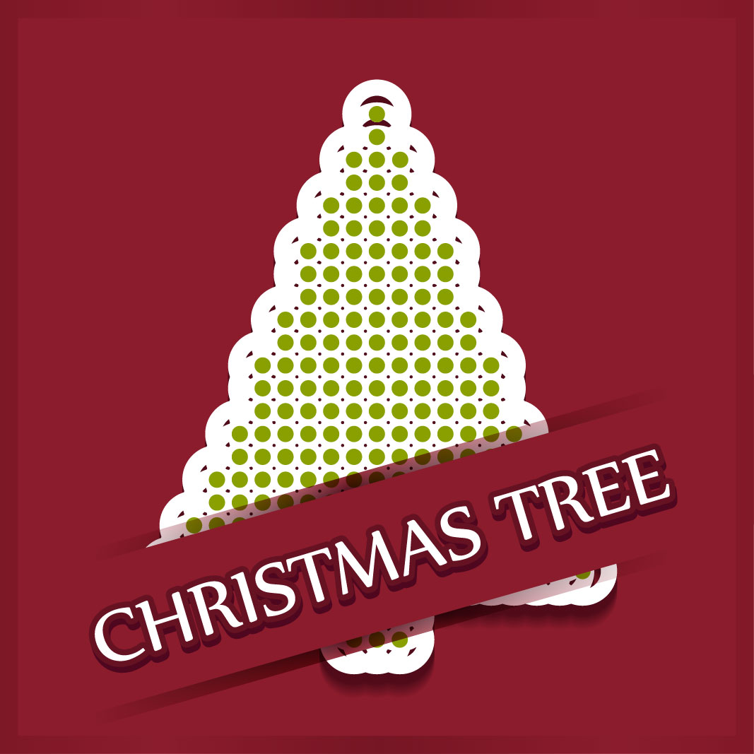 40 free christmas tree Vectors 2014-30