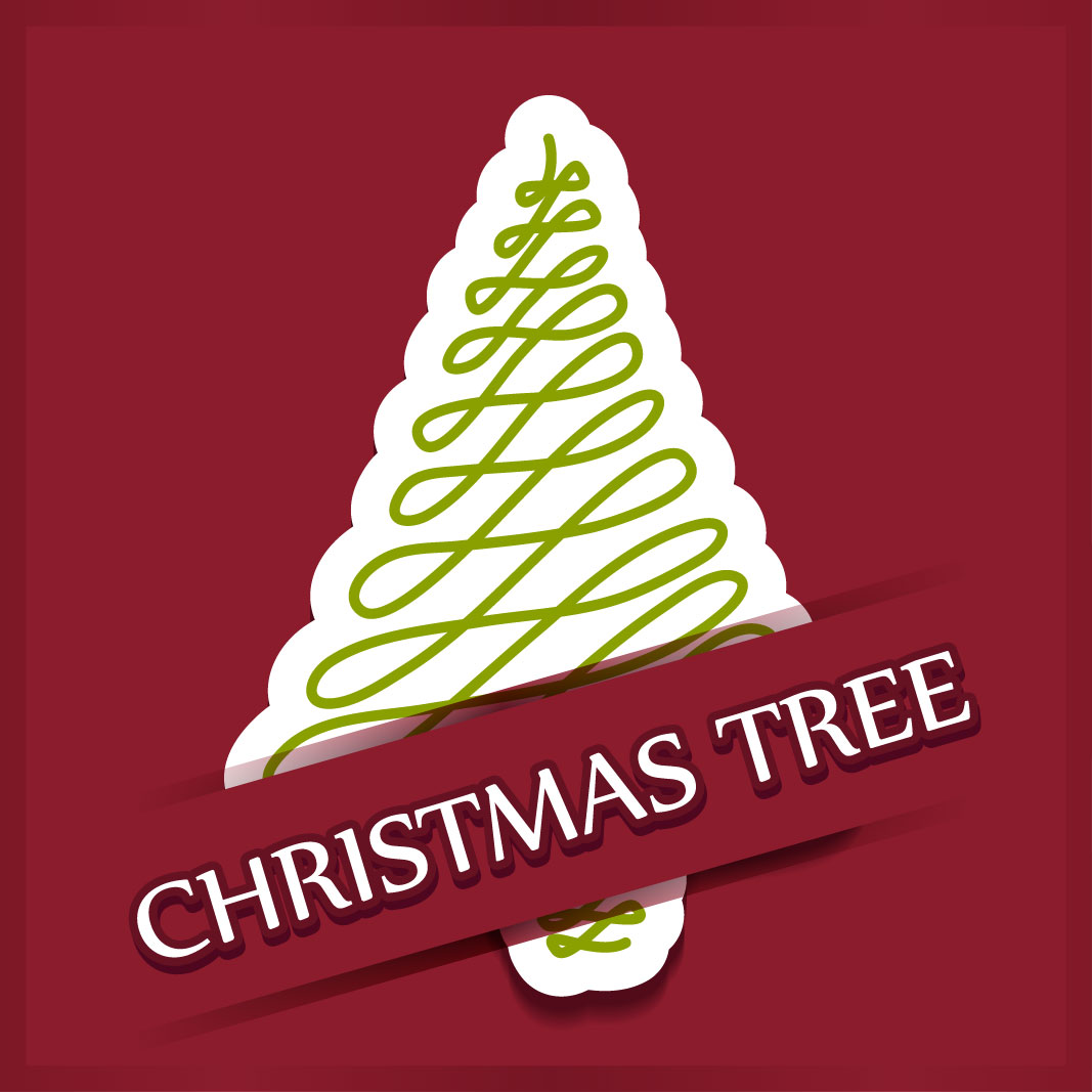 40 free christmas tree Vectors 2014-31