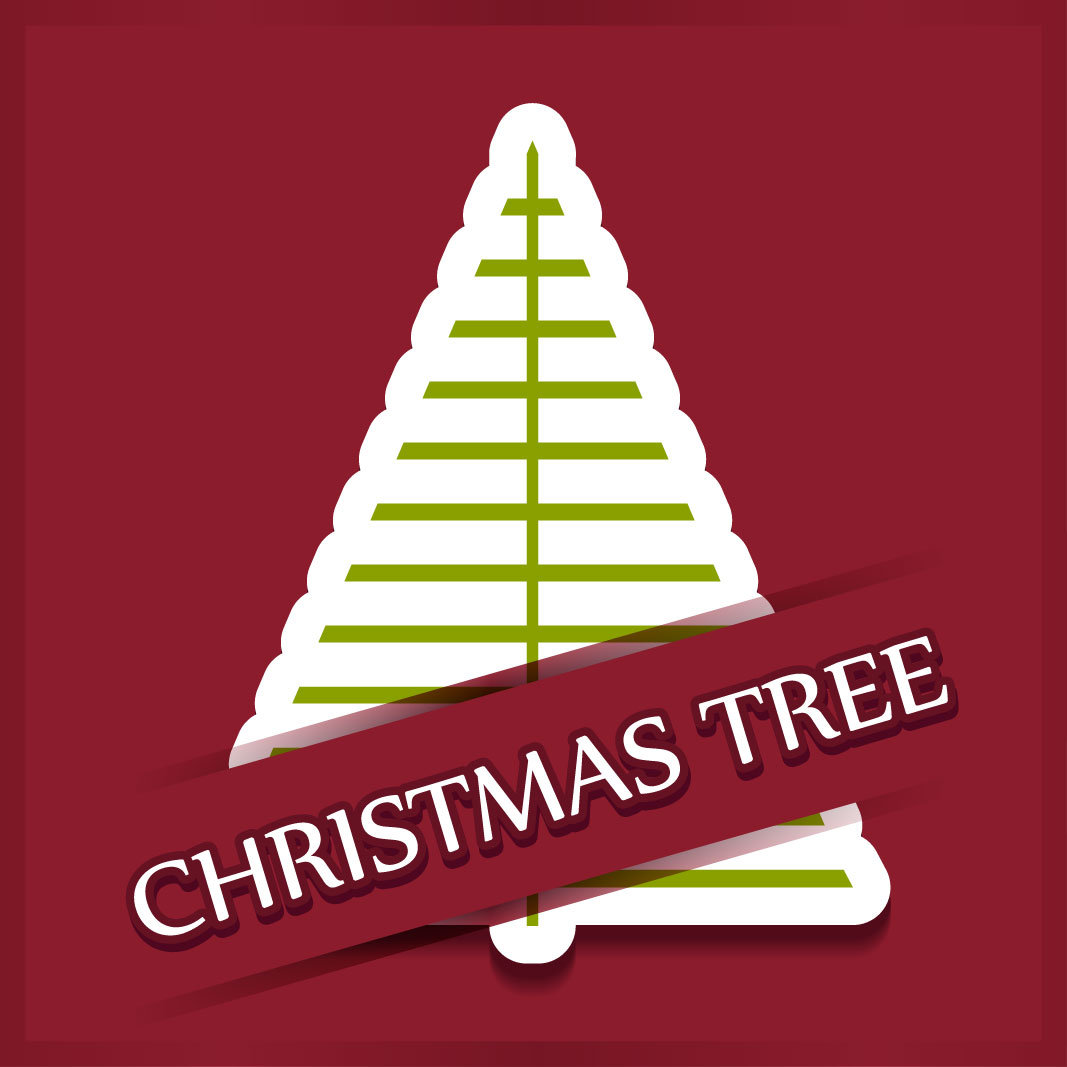 40 free christmas tree Vectors 2014-33