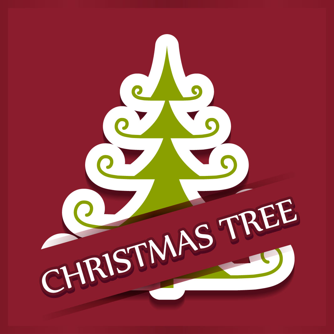 40 free christmas tree Vectors 2014-35