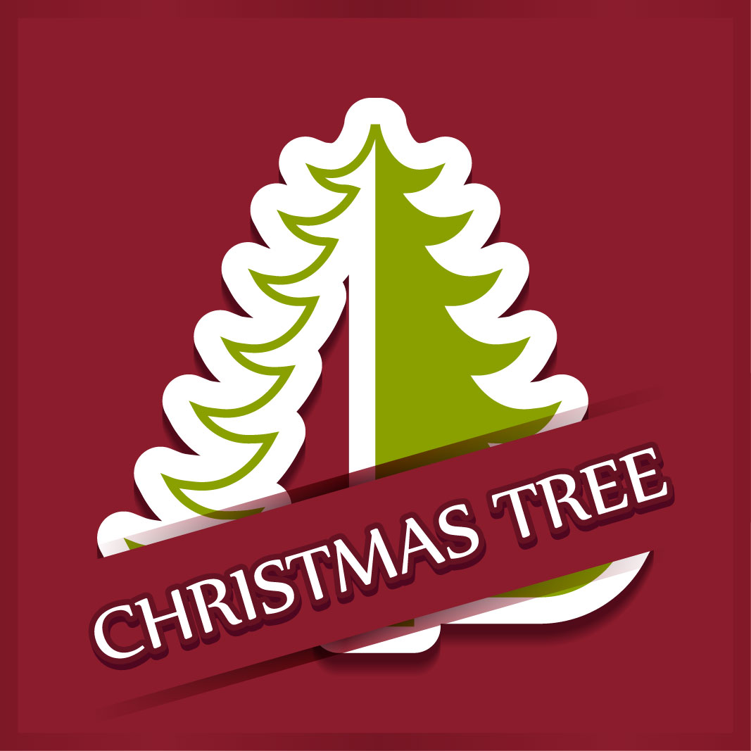 40 free christmas tree Vectors 2014-36
