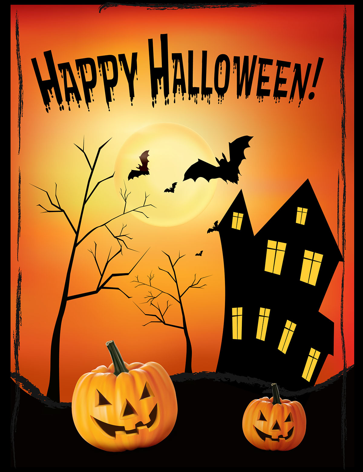 Free Halloween Poster Design - A Graphic World