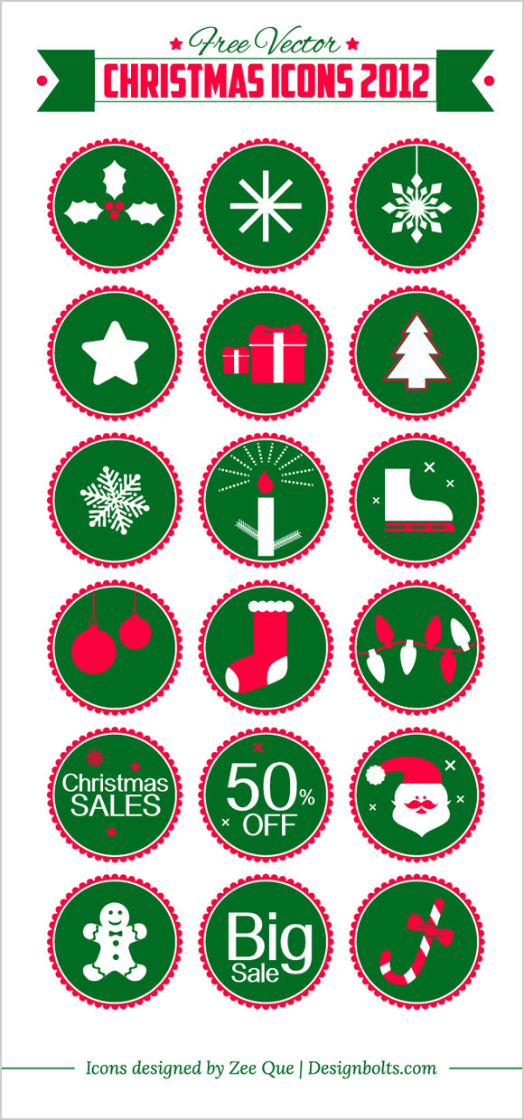 Free-Vector-Christmas-Icons-vector