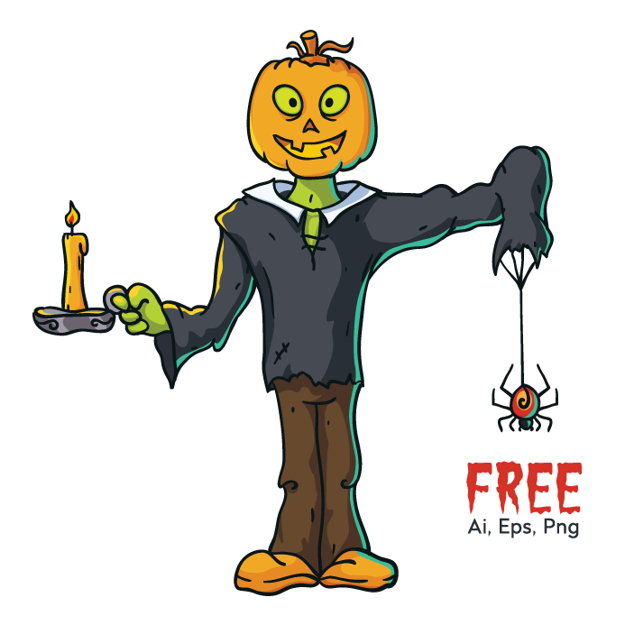 Free_pumpkin_head_character-vector