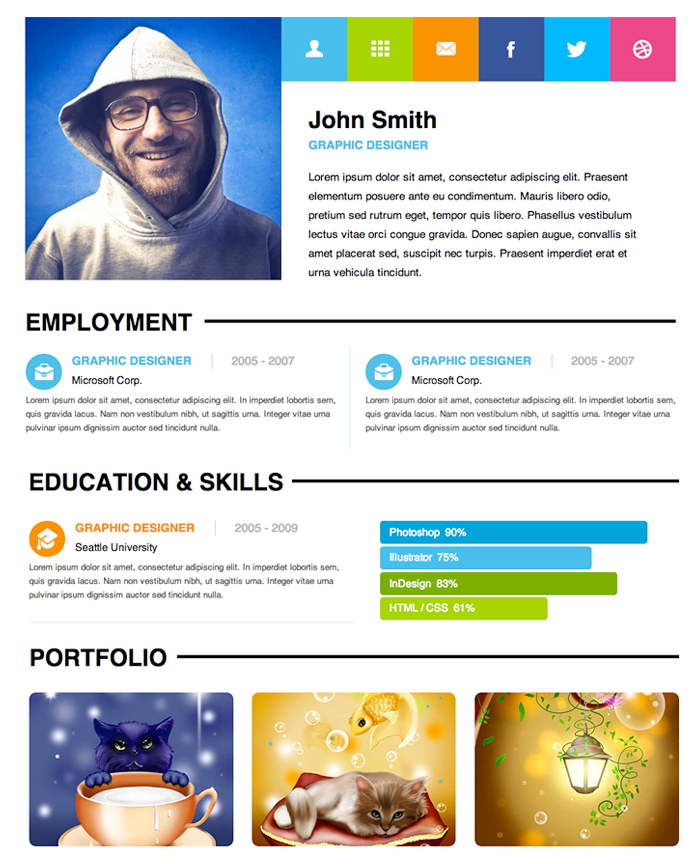 Personal-Resume-Adobe-Muse-Theme-design