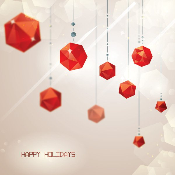 cubist_decoration-business christmas cards