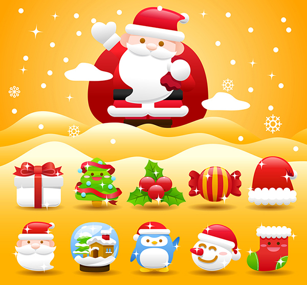 merry christmas icons