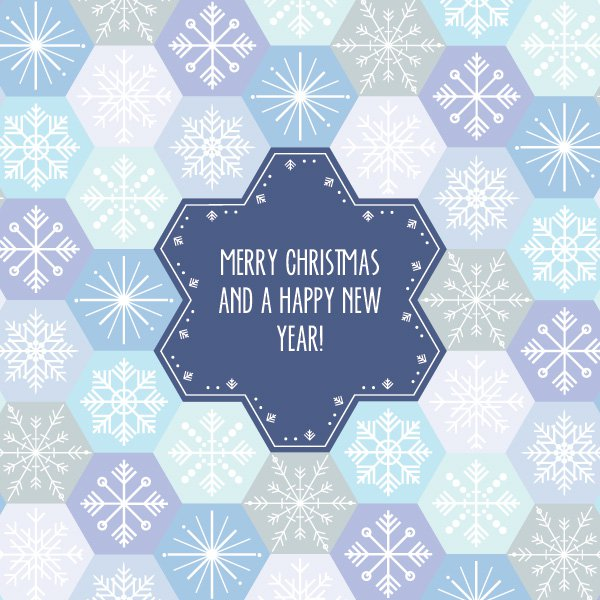 snowflake_pattern_card-business christmas cards