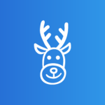 stag christmas clip art