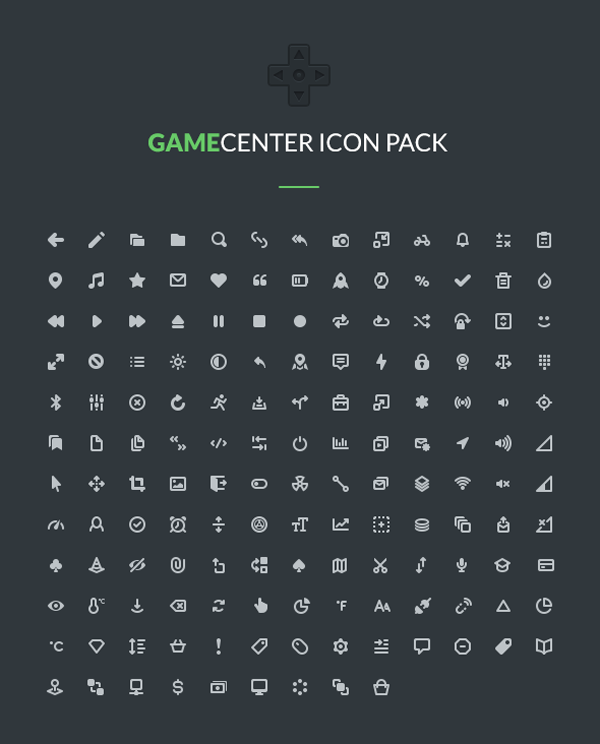 152 Gamecenter Icons Pack