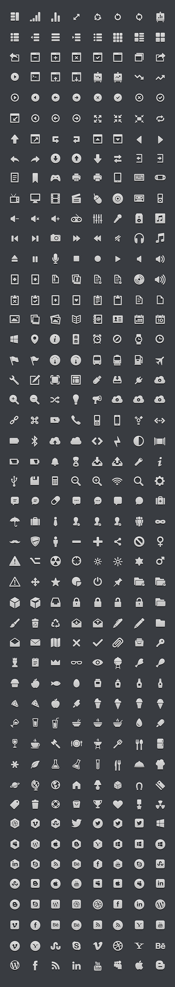 364 High-res 3D Icon Set