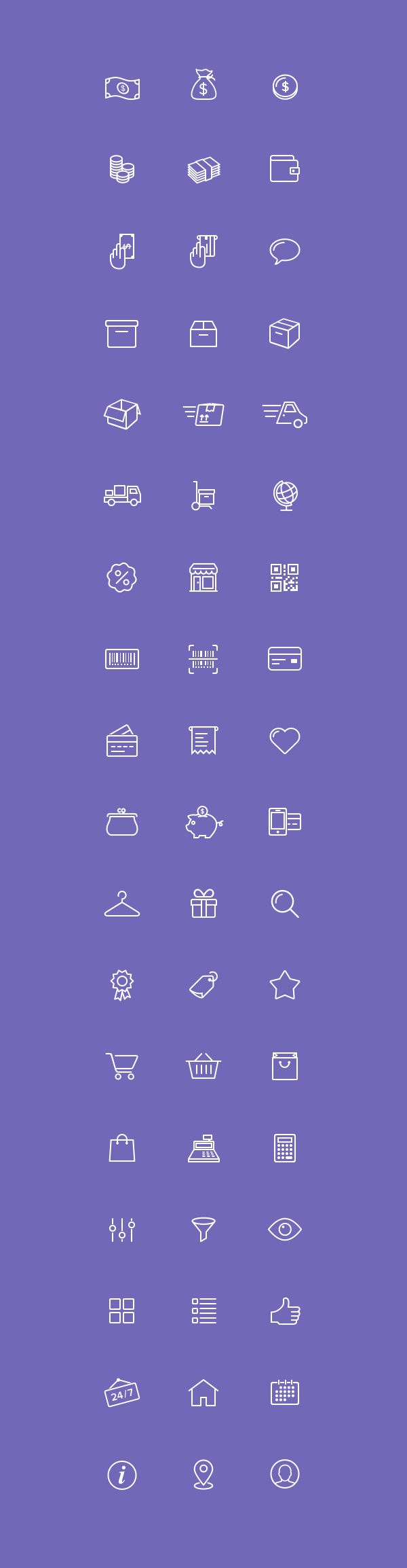 54 E-Commerce Icons