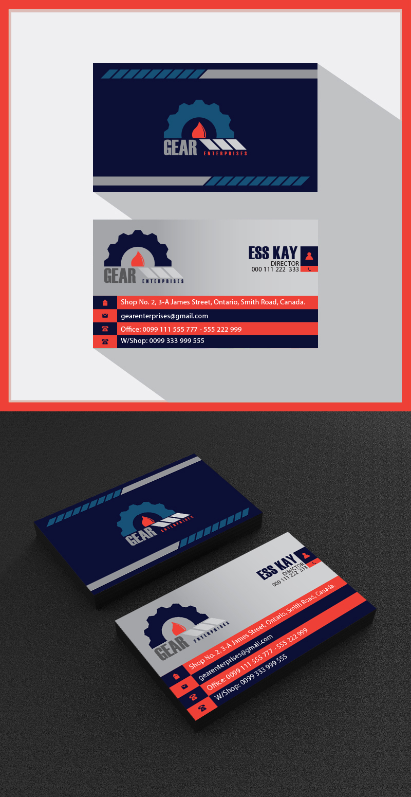 60 business card template designs collection a graphic world business card template design for engineering company flashek Gallery