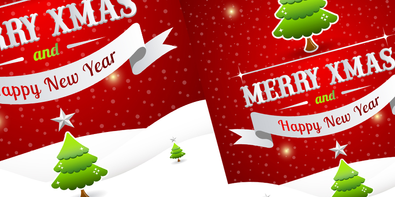 Free Christmas Poster Template 2014 - A Graphic World