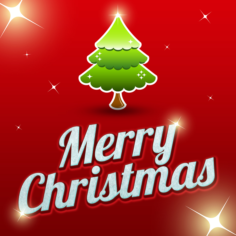 Free Merry Christmas Text Effect 2014 - A Graphic World