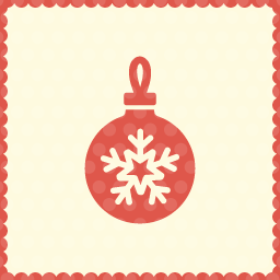 ball christmas icon