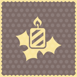 candle decoration christmas icon