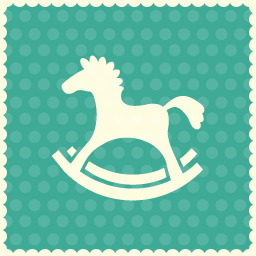 christmas horse toy icon