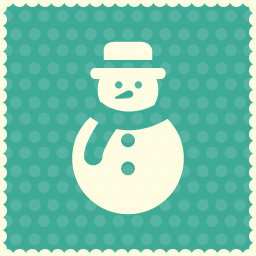 christmas snow boy icon
