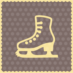 ice shoes christmas icon