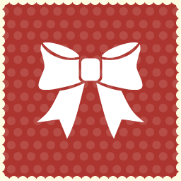 ribbon christmas icon