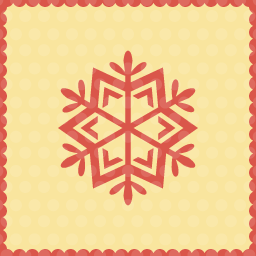 snow particle christmas icon