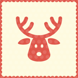 stag christmas icon