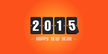 25 Free Vector Happy New Year Greetings Cards 2015 Collection