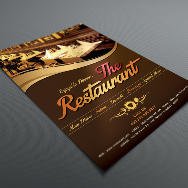 Cafe & Restaurant Menu