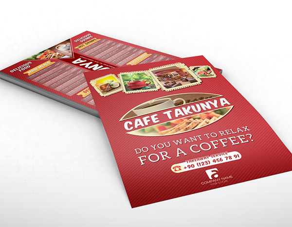 Cafe Takunya Flyer & Menu