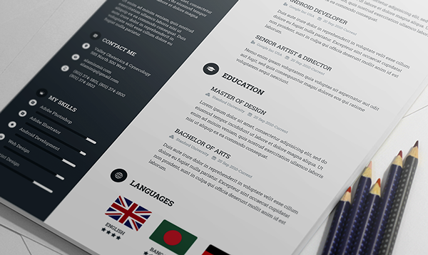 Free Awesome Resume Template 4