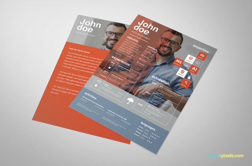 Free Creative Resume Template – Ingenious Design in 3 Colors 1