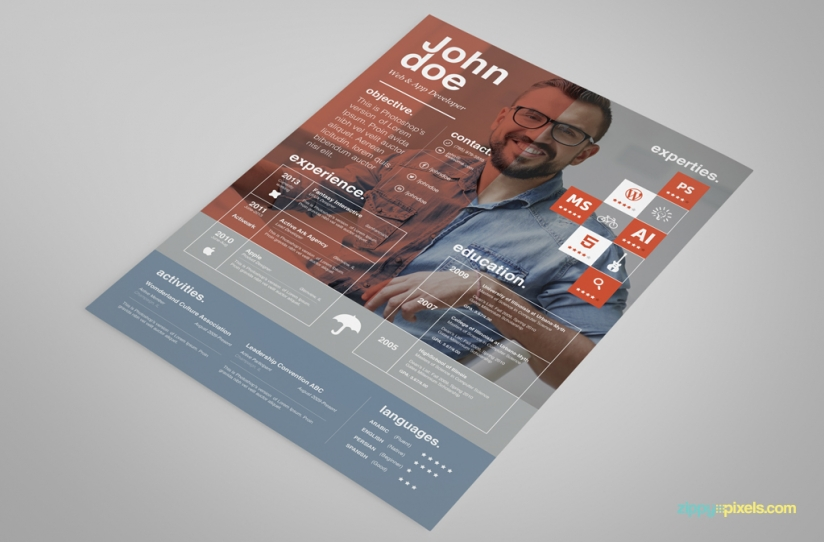 Free Creative Resume Template – Ingenious Design in 3 Colors 3