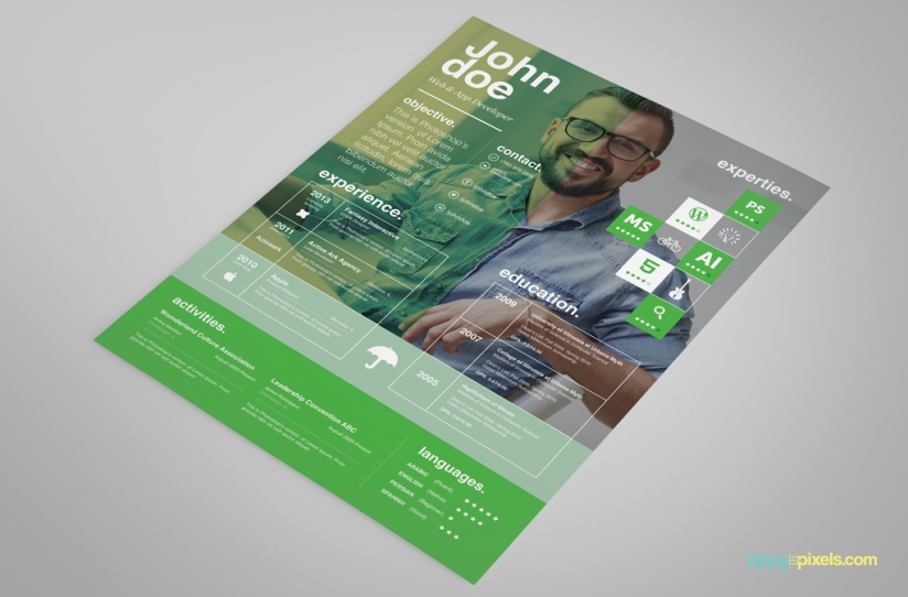 Free Creative Resume Template – Ingenious Design in 3 Colors 5